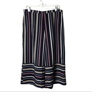 Lucca Striped Wide Leg Trousers